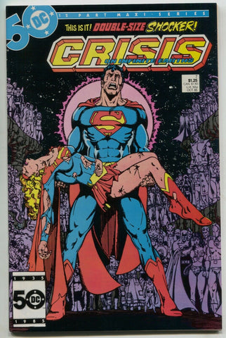 Crisis On Infinite Earths 7 DC 1985 NM Marv Wolfman Superman Death Supergirl