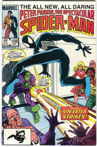 Spectacular Spider-Man 108 Marvel 1985 NM- Original Sin Sin-Eater Daredevil