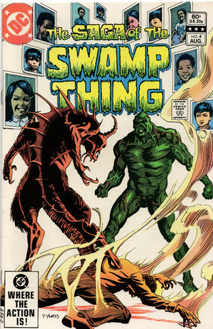 Saga Of The Swamp Thing 4 DC 1982 NM- Tom Yeates Phantom Stranger