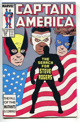 Captain America 336 Marvel 1987 NM Falcon Nomad D-Man USA Flag