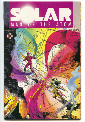 Solar Man Of The Atom 4 Valiant 1991 VF NM Harbinger