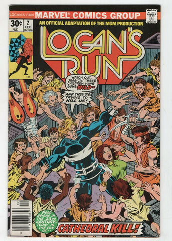 Logans Run 2 Marvel 1977 VF George Perez Movie Adaptation