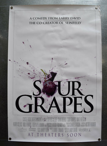 Sour Grapes Original Movie Poster One Sheet SS Advance 27 x 40 Larry David