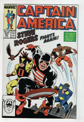 Captain America 337 Marvel 1988 NM 1st US Agent Costume Avengers 4 Homage