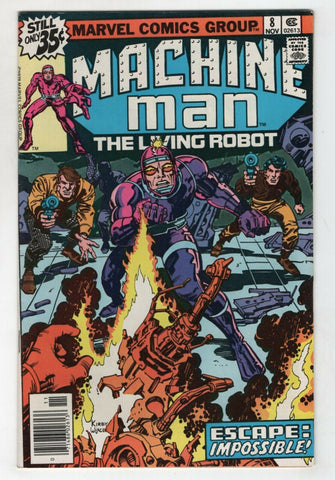 Machine Man 8 Marvel 1978 VF Jack Kirby