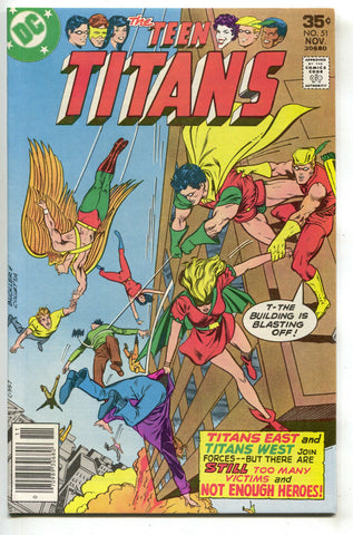 Teen Titans 51 1st Series DC 1977 NM- Robin Hawk Dove Speedy Kid Flash