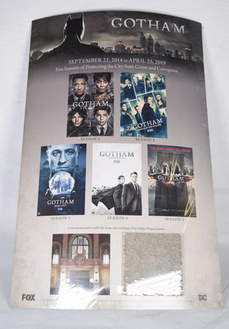 Gotham Poster Commemorative Wall Tile Police Department Batman FOX Promo