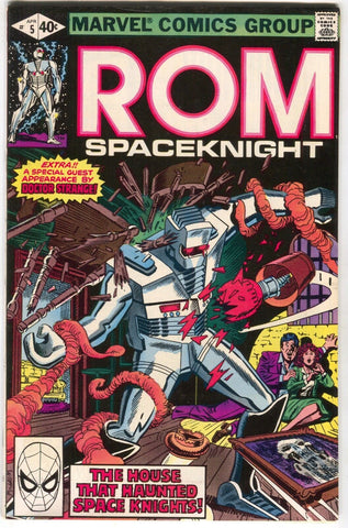 ROM Spaceknight 5 Marvel 1980 VF Bill Mantlo Sal Buscema Doctor Strange