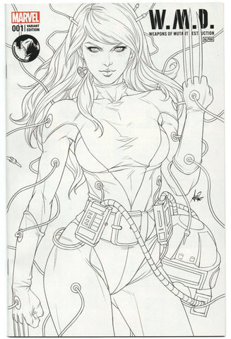 Weapon Of Mutant Destruction 1 Marvel 2017 Stanley Lau Artgerm Line Art Variant