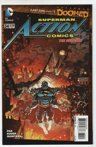 Superman Action Comics 34 A DC 2014 NM Doomed Aaron Kuder Doomsday New 52
