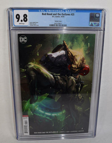 Red Hood And The Outlaws 25 B DC 2018 CGC 9.8 Yasmine Putri Variant Batman