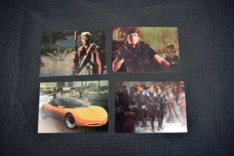 Demolation Man 4 Foil Trading Cards Complete Set F1 F2 F3 F4 Skybox 1993 Movie