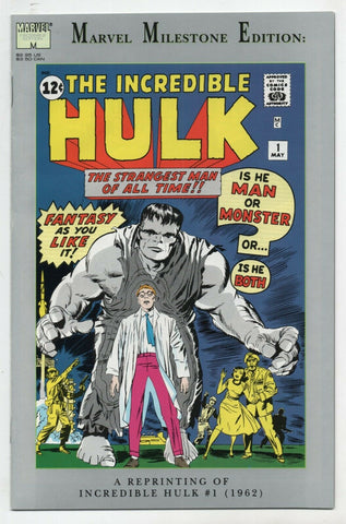 Incredible Hulk 1 Marvel Milestone Edition 1991 NM Facsimile Jack Kirby Stan Lee