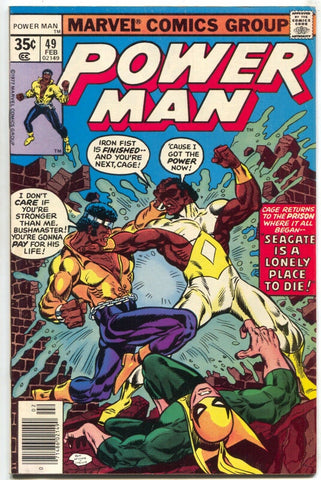 Power Man 49 Marvel 1977 VF Luke Cage Iron Fist Team-Up