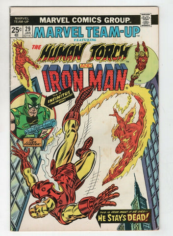 Marvel Team-Up 29 1975 VG Human Torch Iron Man John Romita