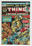Marvel Two In One 4 1974 FN Thing Captain America Fantastic Four Gil Kane