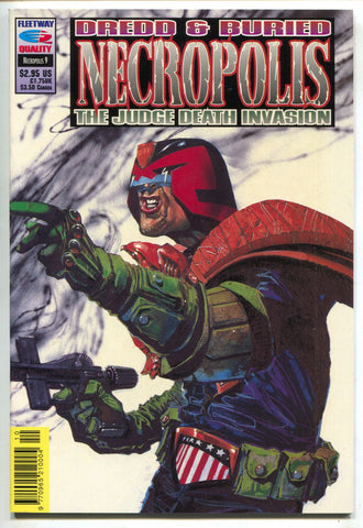 Judge Dredd & Buried Necropolis Death Invasion 9 Fleetway 1992 VF NM
