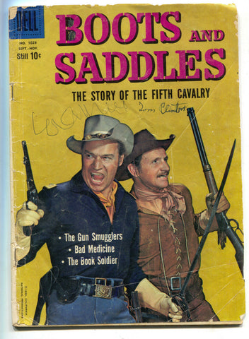 Four Color 1029 2nd Series 1959 Dell GD VG Boots And Saddles Photo John Pickard