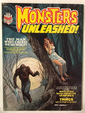Monsters Unleashed Magazine 1 Marvel 1973 VF Werewolf 1st Solomon Kane