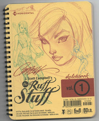J Scott Campbell Ruff Stuff Sketchbook Vol 1 Signed Sketch Spider-Man Venom
