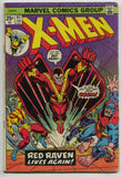 Uncanny X-Men 92 Marvel 1974 VG FN 44 Cyclops Jean Grey Iceman Red Raven