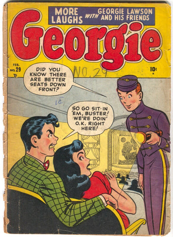 Georgie Comics 29 Timely 1951 FR GD Movie Theater Good Girl