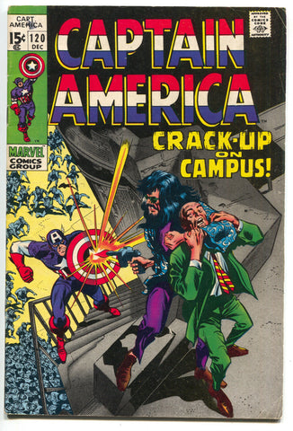 Captain America 120 Marvel 1969 FN Stan Lee Falcon Nick Fury MODOK