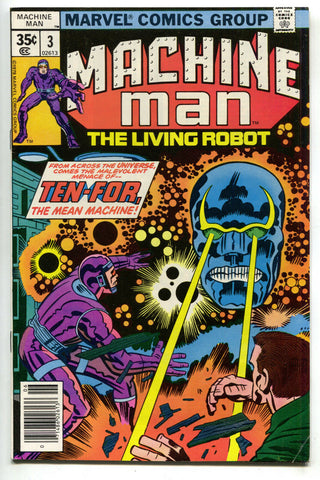 Machine Man 3 1st Series Marvel 1978 VF Jack Kirby