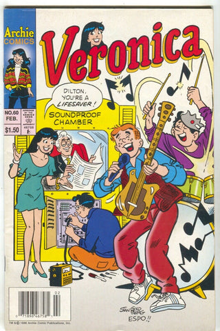 Veronica 60 Archie 1997 NM- Newsstand Dilton Jughead Band