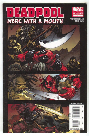 Deadpool Merc With A Mouth 2 Marvel 2009 FN 2nd Print Bong Dazo Variant