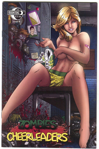 Zombies Vs Cheerleaders 3 A Moonstone 2011 VF NM Lockerroom Topless