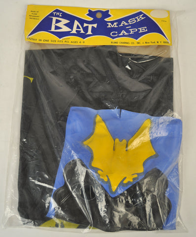 The Bat Mask Cape Costume Bland Charnas 954 New Batman Halloween 1960s Vintage