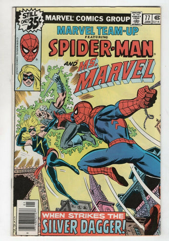 Marvel Team-Up 77 1979 VF Spider-Man Dr. Strange Ms. Marvel John Romita