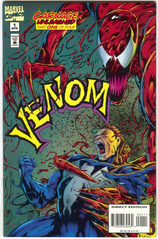 Venom Carnage Unleashed 1 Marvel 1995 NM Spider-Man Seperation Anxiety