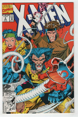 X-Men 4 Marvel 1992 NM 1st Omega Red Wolverine Gambit Rogue Jim Lee