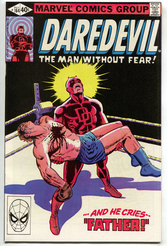 Daredevil 164 Marvel 1980 NM Frank Miller Boxing Ring Captain America Iron Man