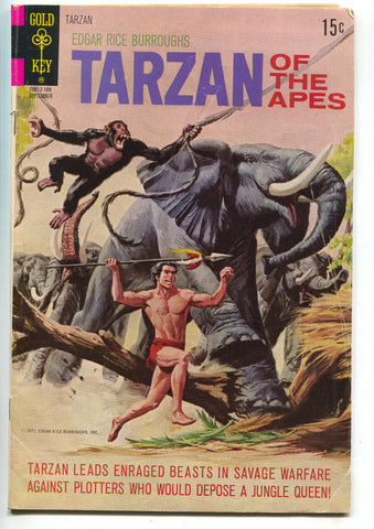 Tarzan Of The Apes 203 Gold Key 1971 FN Elephant Kodak Instamatic 44 Camera Ad