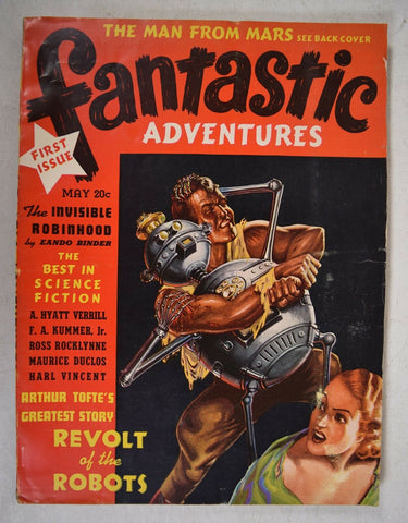 Fantastic Adventures Vol 1 1 Ziff 1939 Frank Paul Revolt Of The Robots