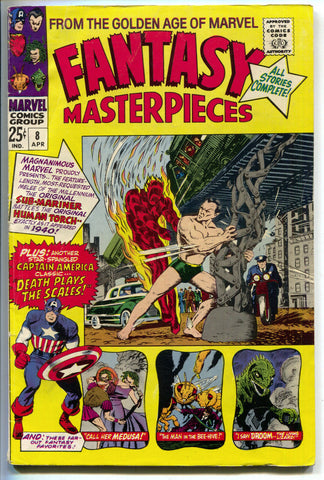 Fantasy Masterpieces 8 Marvel 1967 FN Captain America 7 Tales To Astonish 9 32