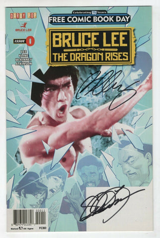 Bruce Lee The Dragon Rises 0 2016 NM FCBD Signed Shannon Lee Bernard Chang