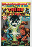 Marvel Two In One 6 1974 VF Thing Dr Strange Jim Starlin