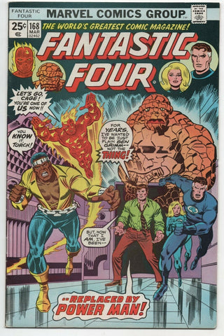 Fantastic Four 168 Marvel 1976 VF Rich Buckler Power Man