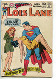 Superman Girlfriend Lois Lane 102 DC 1970 VG Crisis Infinite Earths 7 X-Men 136