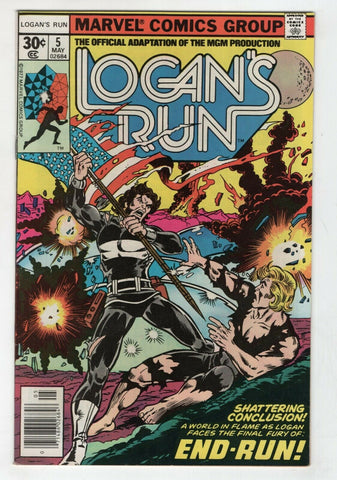 Logans Run 5 Marvel 1977 VF George Perez Movie Adaptation