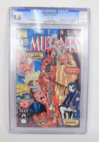 New Mutants 98 Marvel 1991 CGC 9.6 1st Deadpool Cable Domino Rob Liefeld