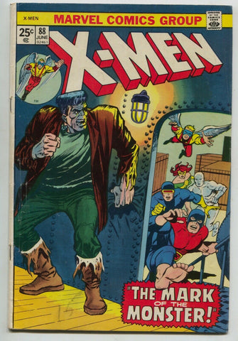 Uncanny X-Men 88 Marvel 1974 FN 40 Frankenstein Cyclops Jean Grey