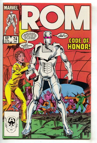 ROM Spaceknight 74 Marvel 1986 VF NM Steve Ditko John Byrne