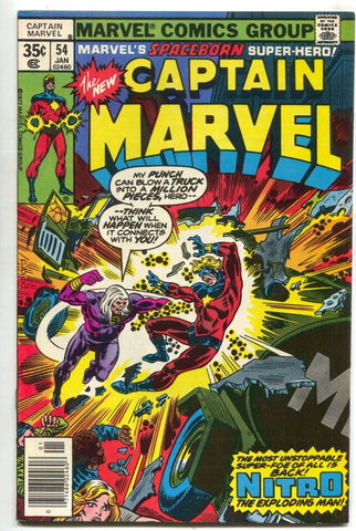 Captain Marvel 54 1st Series 1978 NM Nitro Wonder Man Keith Pollard