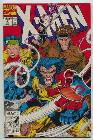 X-Men 4 Marvel 1992 VF NM 1st Omega Red Wolverine Gambit Rogue Jim Lee