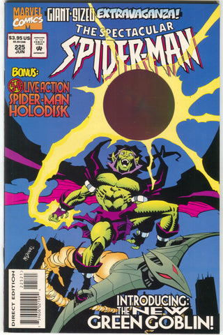 Spectacular Spider-Man 225 Marvel 1995 NM Green Goblin Jackal Bill Sienkiewicz
